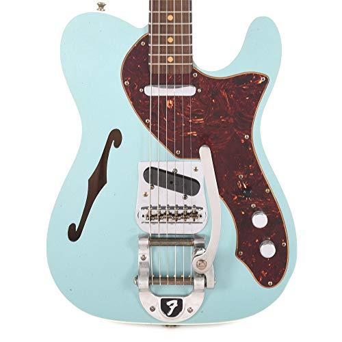 Fender CS Limited Edition '60s Telecaster Thinline Custom Journeyman RW Teal Green - Custom 60s Telecaster