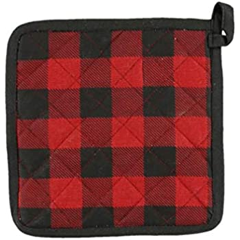 Moose Plaid Durable Canvas Cottons Pot Holders by LazyOne | Cabin, Home and Kitchen Animal Gifts (ONE Size)