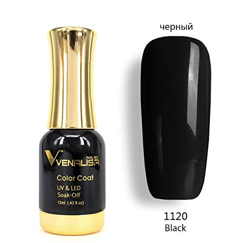 No-Wipe Top Coat 12Ml Nail Art Gel Polish DIY Tips Soak Off Base Foundation No Sticky Layer Non-Cleansing Topcoat 1120 Black Color