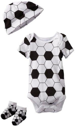 UPC 762061872612, Vitamins Baby Baby-Boys Newborn 3 Piece Soccer Gift Set, White, 0/6