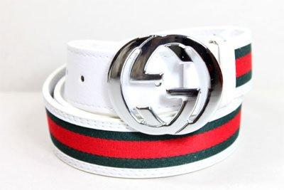 Men's GG Belt (White/Green/Red) Size 32-34