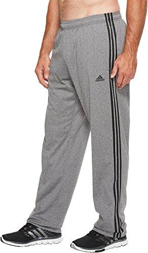 adidas Men's Big & Tall Essentails 3-Stripes Regular Fit Tricot Pants Dark Grey Heather/Black - Pant Big Game Up Warm