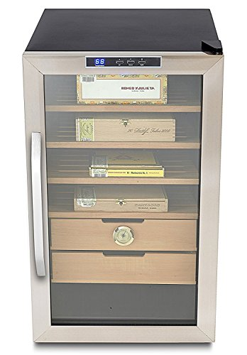 Whynter CHC-251S Stainless Steel 400-Cigar Cooler, 2.5 Cubic Feet Humidor Black by Whynter