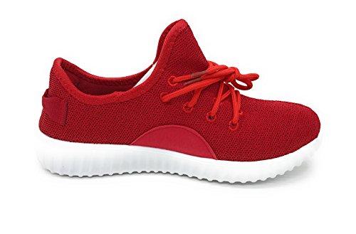 Blaue Berry EASY21 Frauen-beiläufige Art- und Weiseturnschuhe Breathable athletische Sport-leichte Schuhe rot