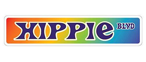 Cortan360 HIPPIE Street Sign peace 60's flower power anti| Indoor/Outdoor | 8