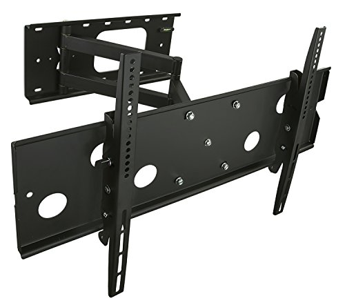Mount-It! TV Wall Mount Swing Out Full Motion Design for Corner Installation, Fits 40 50, 55, 60, 65, 70 Inch Flat Screen TVs, 220 Lb Capacity (MI-319L)
