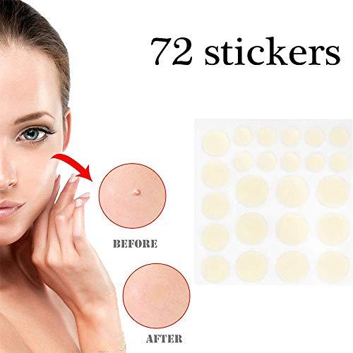 LJTT Akne & Haut Tags Entferner Set für Gesicht & Hautflecken Porenpflaster, das Pickel und Mitesser verbirgt, reduziert (72 Aufkleber)