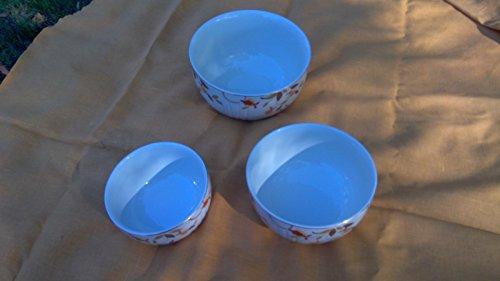 Vintage Jewel Tea Autumn Leaf 3 Bowl Serving (Jewel Tea Bowls)