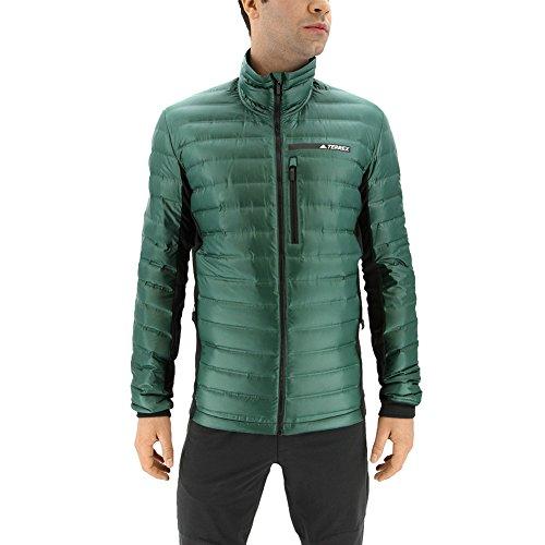adidas Sport Performance Men's Terrex Hybrid Down Jacket, Green Night, Black, S