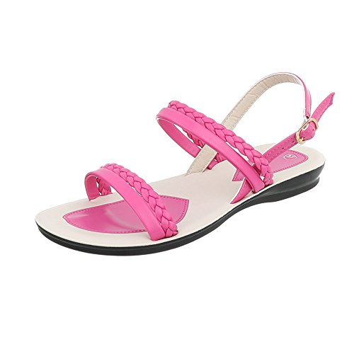 Pink Flat Women's Ital Sandals Sandals at Strappy Design t0wqx5wR