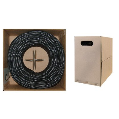 Pullbox 1000ft Bulk Cat5e Black Ethernet Cable ( 30 PACK ) BY NETCNA by NETCNA (Image #1)