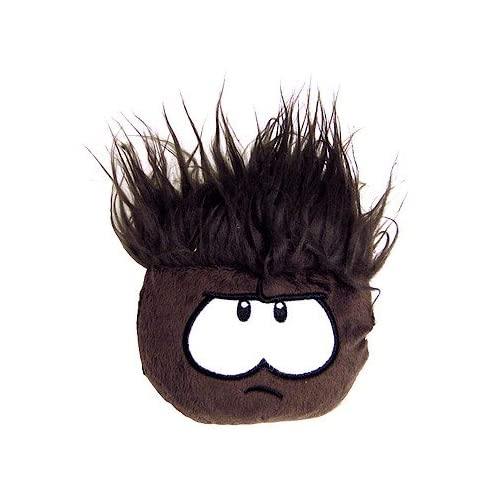 Disney Club Penguin 4 Inch Series 8 Plush Puffle Black Includes Coin with Code!