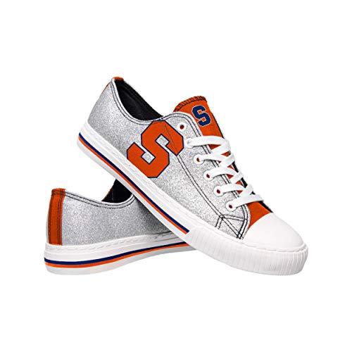 FOCO NCAA Syracuse Orange Womens Glitter Low Top Canvas ShoesGlitter Low Top Canvas Shoes, Team Color, 8/L