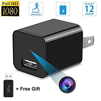 Spy Camera - Hidden Camera - Motion Detection - HD 1080P - USB Hidden Camera - Surveillance Camera - Mini Spy Camera - Nanny Camera - Best Spy Camera Charger - Hidden Camera Charger - No Need WiFi by Tusionwin