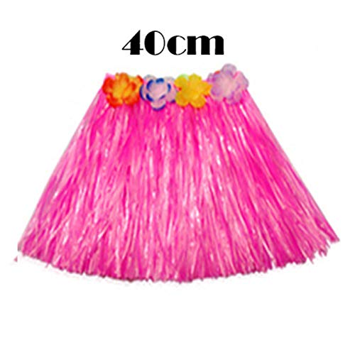 (SeedWorld Party DIY Decorations - 30/40/60cm Plastic Fibers Girls Woman Hawaiian Hula Skirt Hula Grass Costume Flower Skirt Hula Dance Dress Party Hawaii Beach 1)