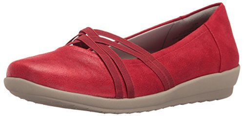 Easy Spirit Womens Aubree2 Flat Red Fabric