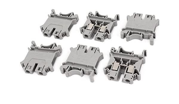 DealMux a14120800ux0422 57A 2 UK6N DIN Rail Terminal Bloco Connector, 800V, 6 Piece, 6 mm, Grey: Amazon.com: Industrial & Scientific