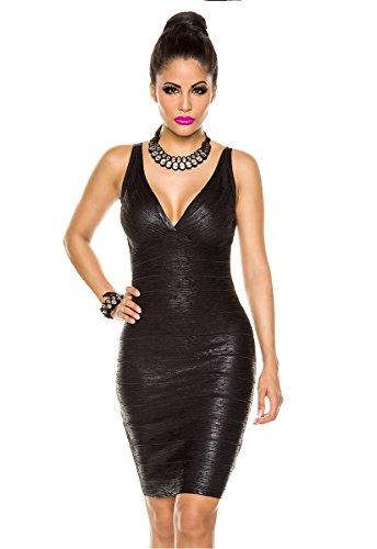 Vendaje vestido vestido de cóctel Mini vestido Fiesta Vestido a13490–�? schwarz (Sw 16)