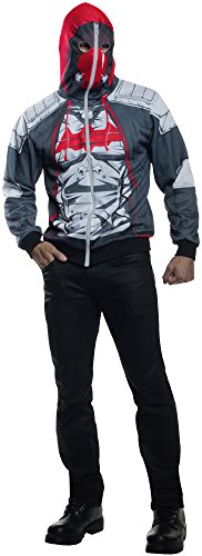 Rubie's Men's Arkham Knight Red Hood Hoodie, Multi, -
