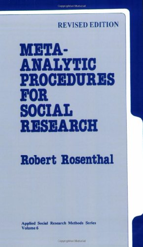 Meta-Analytic Procedures for Social Research (Applied Social Research Methods)