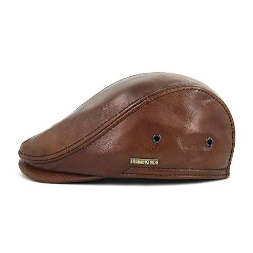 62b57f84b4b42b Aeropost.com Saint Vincent - LETHMIK Flat Cap Cabby Hat Genuine Leather  Vintage Newsboy Cap Ivy Driving Cap