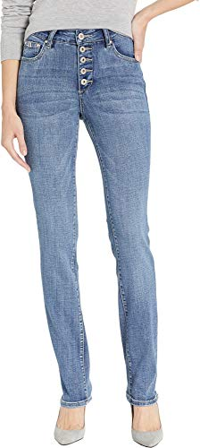 (Jag Jeans Women's Gwen Button Fly Straight Jean, Mid Vintage, 12)