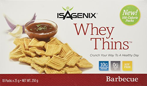 Oatmeal Silver Cookies - Isagenix Whey Thins 100 Calorie Packets (10 grams of Protein) (10 Packets) Barbecue Flavor