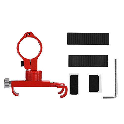 VGEBY Bicycle Phone Mount, Aluminum Alloy Adjustable Rotary Handlebar Smartphone Holder for 3.5-6.2in Cell Phone(Red) Shock Mount Spacers