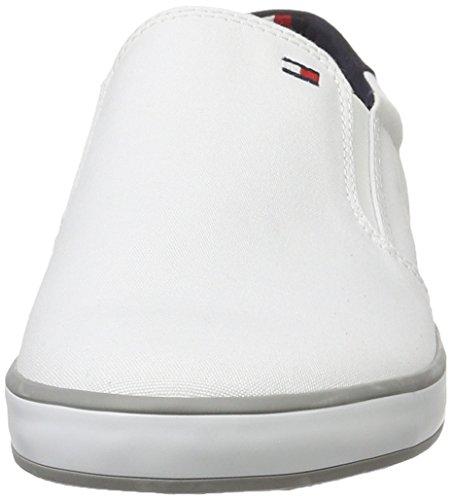 Cuello 2d Hombre Zapatilla Del Hilfiger white 100 Baja Tommy Deporte De Blanco Para H2285arlow RpBEnT