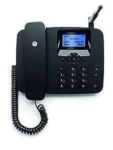 Motorola FW200L - Teléfono (Altavoz, 1000 Entradas, Identificador de Llamadas, Servicios de Mensajes Cortos), Negro