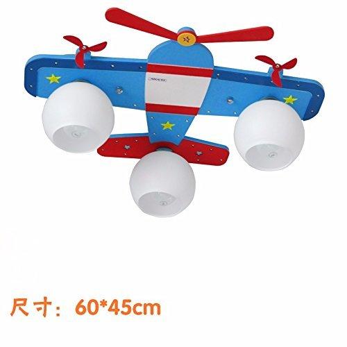 Set Tischlampe-Creative Flugzeug Kinderzimmer Beleuchtung Jungen Zimmer Schlafzimmer Deckenleuchte Auge führte Moderne Beleuchtung,3 kleine und Fernbedienung + + Purifier Lichtquelle