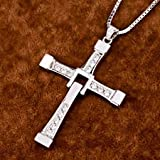 jacob alex #40391 Fast And Furious Men Cross CZ Pendant 20'' Necklace Real 925 Silver 22.5G/0.8OZ