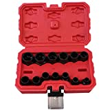 13Pcs Nut Bolt Removers Set,Impact Bolt & Nut Remover Nut Extractor Twist Socket,Threading Hand Tools Kit With Box