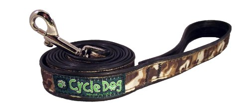 Recycled Dog Leash Narrow Width, Brown Camo, 6-Feet