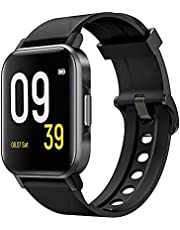 """SoundPEATS Smart Watch 12 Sports Modes Compatible with iPhone Android Phones,Fitness Tracker Heart Rate Monitor Sleep Quality Tracker Call & Message Alert Swimming Waterproof 1.4"""" Large Touch Screen"""