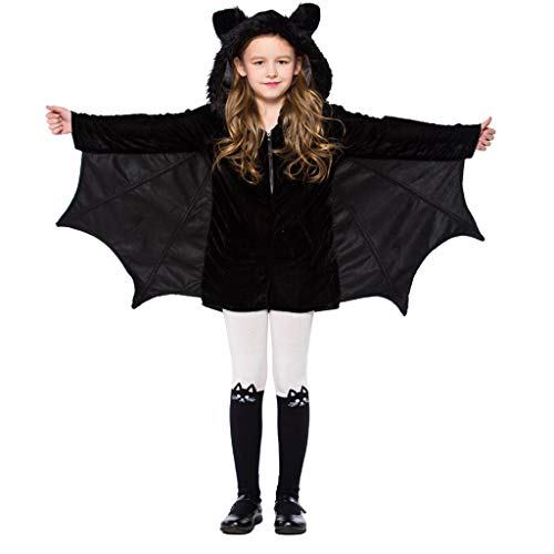Meeyou Girls Vampire Bat Costume, Halloween Party Animal Costume Outfits,Size X-S,Height:39