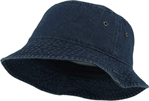 H-219-75 Bucket Hat Outdoor Safari Boonie Cap: Dark Denim
