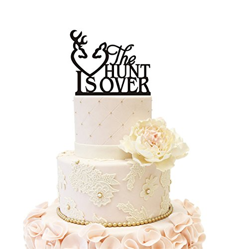 Wedding Anniversary Cake Topper The Hunt is Over (The Hunt Is Over Wedding)