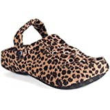 1111-2 - Happy Feet - Leopard Clog - Medium