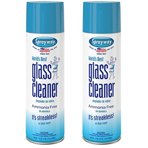 Best Cleaner Glass - Sprayway, Sprayway Glass Cleaner, 19 oz Cans, Pack of 2