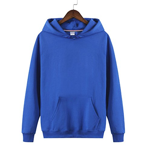 Capucha Amantes Simple Sólido Azul Sudadera Hombres Grueso Adulto Con Suelto Más Color Jersey fqx0g5vXwg