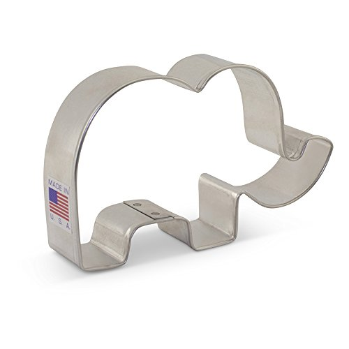 Cute Elephant Cookie Cutter - 4.13 Inch - Ann Clark - US Tin Plated Steel
