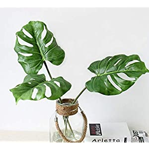 Ahvoler Artificial Tropical Monstera Palm Tree Leaves for Home Decorations 2