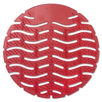 Wave Urinal Deodorizer Screen, Spiced Apple Scent, Red, 10 per Box by FRESH PRODUCTS (Catalog Category: Office Maintenance, Janitorial & Lunchroom / Cleaning ()