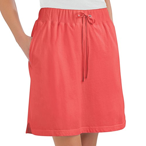 Womens Drawstring Knit Skort Plus Size