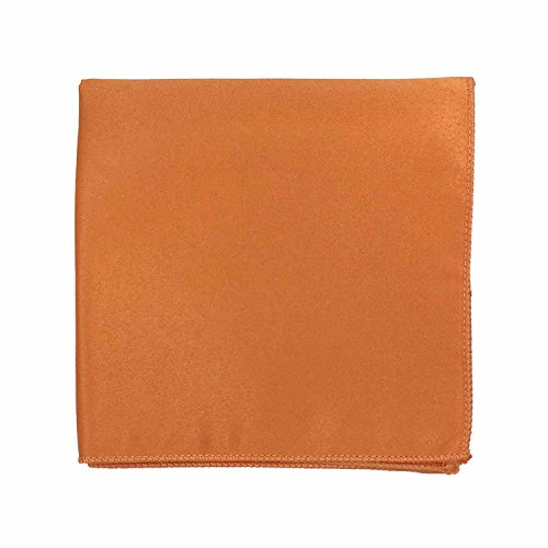 Spencer J's Satin Pocket Squares Handkerchief Boys and Mens (Orange)
