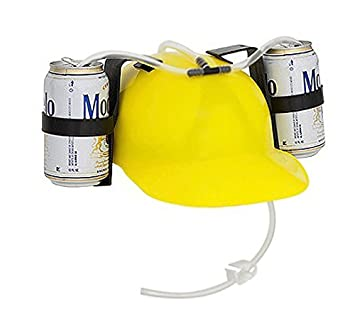 2baa42feb3d Amazon.com  EZ DRINKER Beer   Soda Guzzler Helmet - Drinking Hat By (Red)   Toys   Games