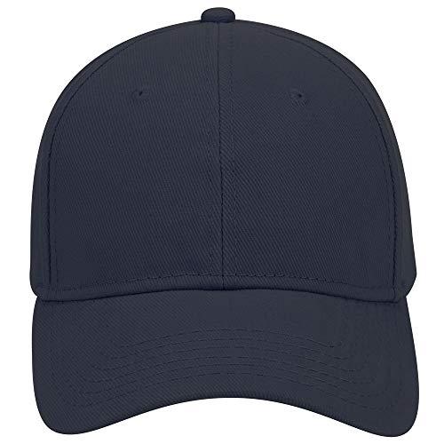 Product of Ottocap Brushed Bull Denim Six Panel Low Profile Baseball Cap -Navy [Wholesale Price on Bulk]