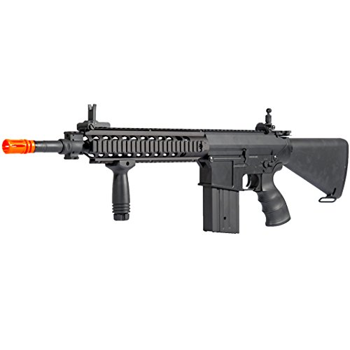 MetalTac JG FB-6651 SR25K Electric Airsoft Gun Sniper Rifle, Full Metal Body, Metal Gearbox Version 2, Auto AEG, Upgraded Powerful Spring 410 Fps with .20g BBs