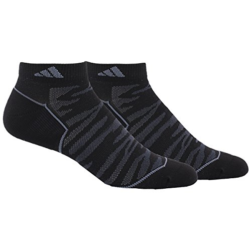 adidas Mens Superlite Prime Mesh Low Cut Socks (2-Pack), Black/Night Grey/Onyx, Large